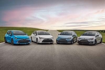 La familia Toyota Corolla (PRNewsfoto/Toyota)