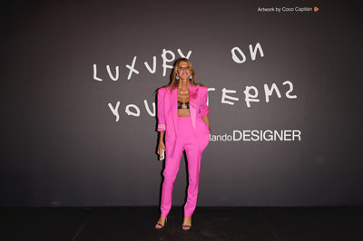 Anna Dello Russo attends Zalando Designer Event 'Luxury on your Terms' at Milan Fashion Week on September 23, 2021 in Milan, Italy. (Photo by Stefania M. D'Alessandro/Getty Images for Zalando)