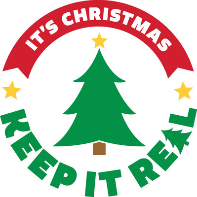Christmas Tree Promotion Board Logo (www.itschristmaskeepitreal.com)